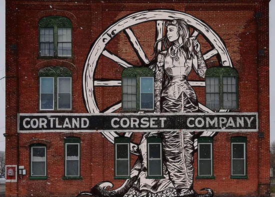 Mural on Cortland Corset Building