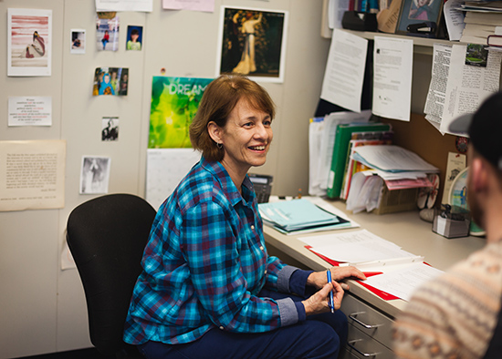 Karen Pastorello in her office