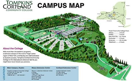 Campus Map Ithaca College.Maps And Locations Tompkins Cortland Community College