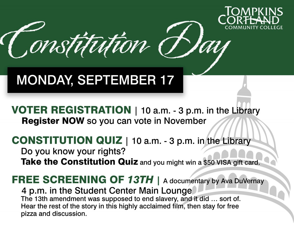 Information about events associated with Constitution Day