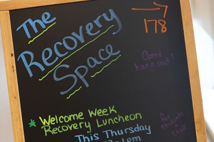 Recovery Space interior page